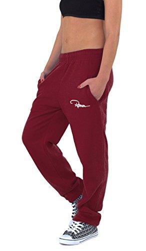 REDRUM Plain Sweatpants Jogger Pants Jogginghose aus Baumwolle in Bordeaux - Sporthose, Trainingshose, Fitnesshose oder Bequeme Freizeithose für Damen und Herren (L)