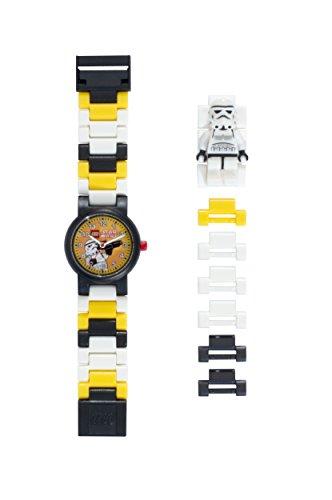 Reloj modificable infantil con figurita de la tropa de asalto de LEGO Star Wars 8020424 negro/blanco