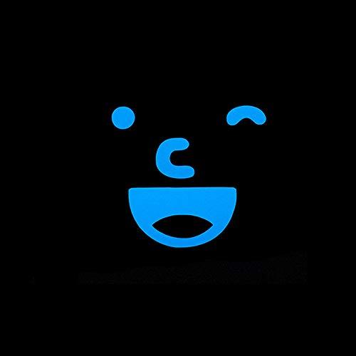 YuJian12 Glow in The Dark Cute Smile Sticker Decoración para el hogar  Luminous Wall Sticker Lovely Cartoon con Sticker Decal para la habitación  de los
