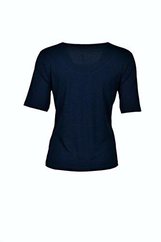Hajo Damen Shirt 1/2 Arm Rundhals - Marine Marine