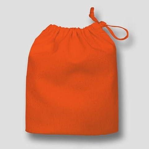 sacchetti regalo, sacchetti, sacchetti in 100% cotone con coulisse, 20x 24cm, colore: arancione