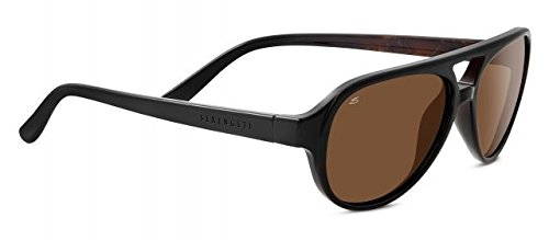 Serengeti Giorgio Aviator Sonnenbrille Schwarz Braun Mit Polarisierte Treiber Objektive 8182