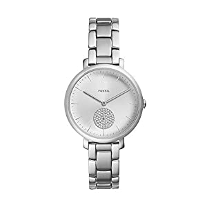 Fossil Damen Analog Quarz Uhr mit Edelstahl Armband ES4437