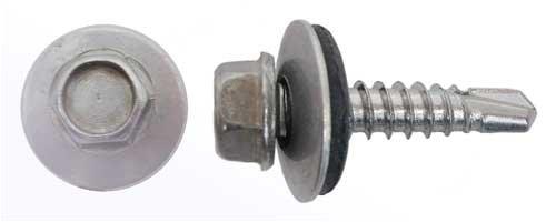 50 Bohrschrauben Form K DIN 7504 Edelstahl A2 16mm Dichtscheibe 5,5x19