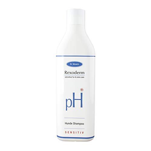 Dr. Mosers REXODERM Sensitive-Shampoo | Lindert Hautreizungen - gegen Juckreiz | Anti-Bakteriell - mindert Gerüche | Regenerativ | Hundeshampoo ohne Silikone (300 ml)