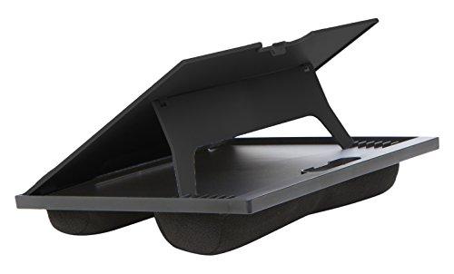 Mind Reader 8Position réglable Lap Top Desk avec Coussins, Noir