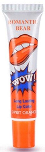 Tatouage Magie Couleur Décoller Masque Coloration Effet Durable Étanche Brillant À Lèvres Orange Douce