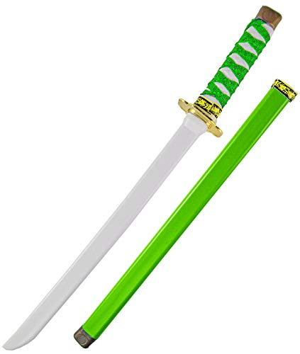 Nerd Clear Ninja Schwert für Kinder   Schwert & Scheide   60cm Länge aus Kunststoff   ideal für Karneval & Fasching: Farbe: Grün