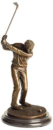 Statue de bronze sculpture golfeur golf figurine style antique - 33cm