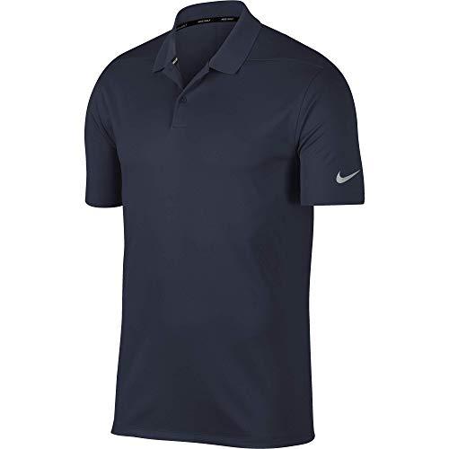 Nike Herren Men's Dry Victory Polo Solid, Obsidian/Flight Silver, XXXXL -