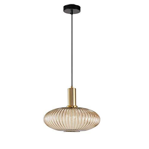 Glas Pendelleuchte, Easygame Vintage Lampe Kronleuchter Kreative Kronleuchter Lampenschirm Loft Anhänger Deckenleuchte Lampenschirm Retro Beleuchtung Vintage Hängendes Licht (Klar) -