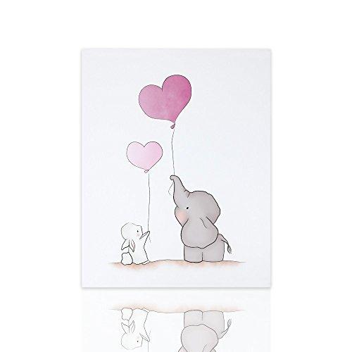 Cuadros Niños Elefante Conejito Listo Colgar Marco