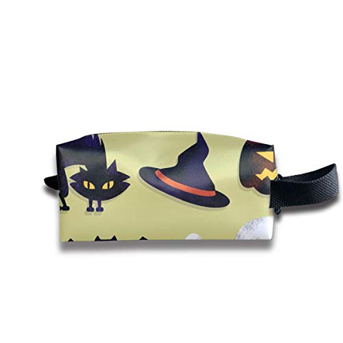 Cartoon Scary Halloween Women Cosmetic Bag Travel Girls Oxford Toiletry Bags Elegant Portable Hanging Organizer Makeup Pouch Pencil Case