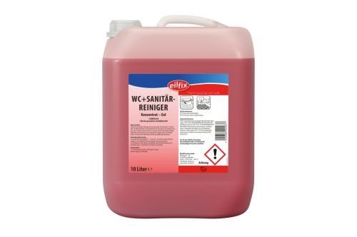 eilfix WC + Sanitärreiniger - Konzentrat-Gel - desinfizierend - 10 Liter - 1 Kanister