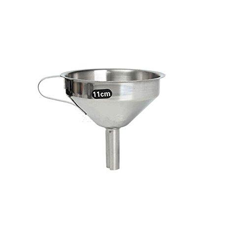 Generic Küche Edelstahl Gießtrichter Ölflasche Sieb Jam Filter – 11cm - 2