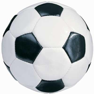 Unbekannt Toller Fußball/Lederfußball schwarz - weiß, Größe 5 (offizielle Spielgröße), klassiches Design, fertig aufgepumpt - sofort spielbereit