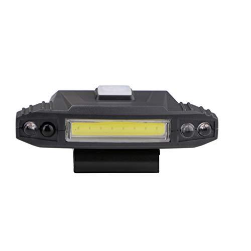 Asolym Faros deslumbrantes Luces de inducción COB Faros Exteriores Recargables montados en la Cabeza con USB 4 Modos de iluminación adecuados para la Pesca Nocturna Camping