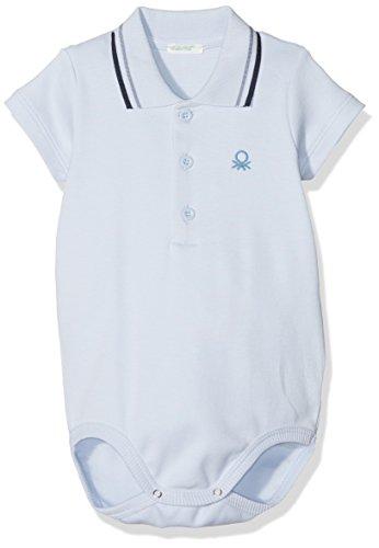 United Colors of Benetton Baby-Jungen Bodysuit, Blau (Heather 081), 50 (50 Heather)
