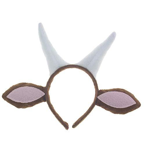 BaronHong Ziege Stirnband Cosplay Tier Rollenspiel (weiß, M)