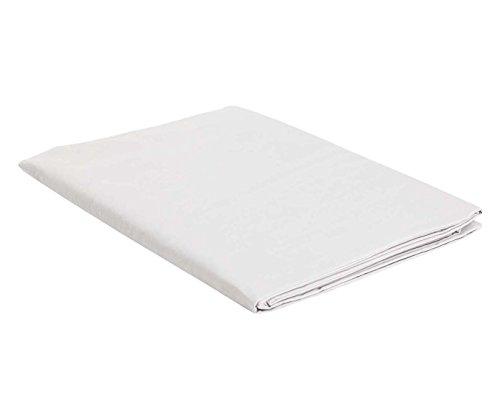 Italian bed linen telo copritutto matrimoniale, bianco, 270 x 300 cm