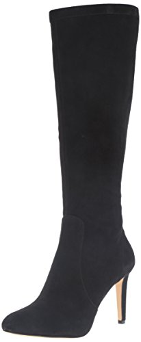Nine West Women's Holdtight Suede Knee-High Boot, Black, 10 M US (West Knee High Nine Boots)