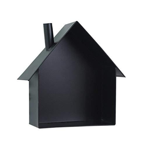 Q-placeoo Schwebendes Regal, niedliches Haus geformte eiserne Wandregale Display Rack Entryway Mail Box Postkartenhalter Dekoration (Color : Black) -