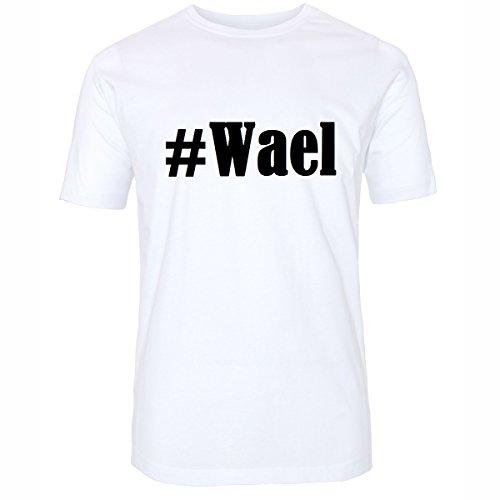 T-Shirt #Wael Hashtag Raute für Damen Herren und Kinder ... in den Farben Schwarz und Weiss Weiß