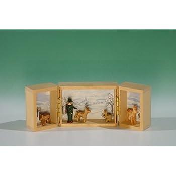 Hirte Höhe ca 4,5 cm NEU Weih Miniatur im Klappkästchen Landschaft um Seiffen m