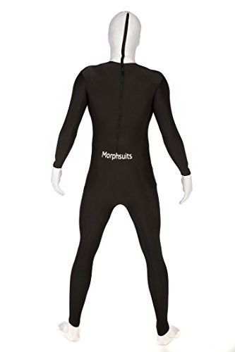 KULTFAKTOR GmbH Morphsuit Anzug Kinder schwarz-Weiss 10 bis 12 Jahre