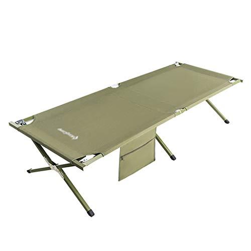 Klappstühle Klappbett Klappbett Im Freien Ultraleichte Tragbare Couch Begleitbett Büro-Lunchbett Camping-BBQ, Patio Mit Sonnenliege (Color : Green, Size : 205 * 75 * 46cm) - Arm-futon