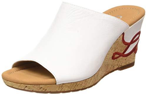Gabor Shoes Damen Comfort Sport Pantoletten, Weiss (Love) 50, 44 EU