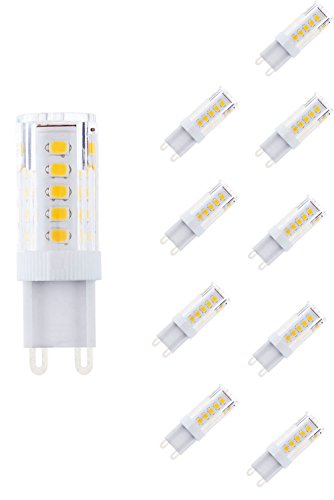 NuLoXx 10er Pack LED 3.5W/860 6000K G9 kaltweiß (Tageslicht) 320LM AC 220-240V, 360° Abstrahlwinkel - Sockel Schach