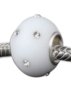 Andante-Stones 925 Sterling Silber Murano Mattglas Bead KERASTYLE