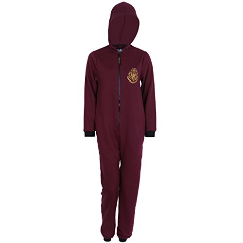 Harry Potter -:- Hogwarts - Pijama de una Pieza - para Hombre Rojo M/L
