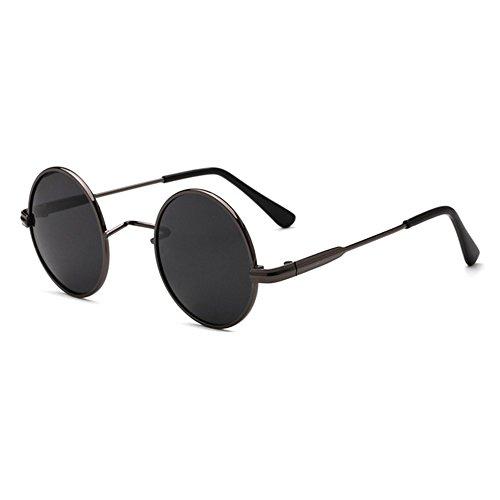 juqilu Polarisierte TAC Linsen Sonnenbrille Mode Kinder Brillen Vintage Kinder Runde Sonnenbrille Metallrahmen C1