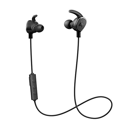 TaoTronics Bluetooth Kopfhörer 4.1 In Ear Kopfhörer Wireless Sport Headset aptX IPX4 Wasserschutz Ohrhörer mit Magnet/Mic für iOS iPhone Smartphone 7 7 Plus 6 6S Android bis zu 7 Stunden Betriebszeit (Tao Bluetooth)