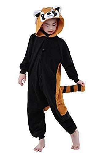 ABYED® Einhorn Kostüm Jumpsuit Onesie Tier Fasching Karneval Halloween kostüm Damen mädchen Herren Kinder Unisex Cosplay Schlafanzug, Waschbär, Größe 85 - für Höhe 95-105 cm (3-4 Jahre) (Junge Waschbären Kostüm)