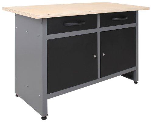 Ondis24 Montagewerkbank Werkstatteinrichtung Werkstatt Werkbank Werktisch mit 2 Schubläden kugelgelagerte Rollenführung mit 2 abschließbaren Türen - 3