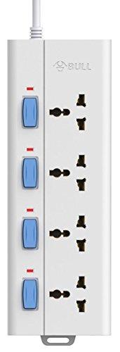 Bull 4 Socket,4 Switch,3 M Wire Extension Board