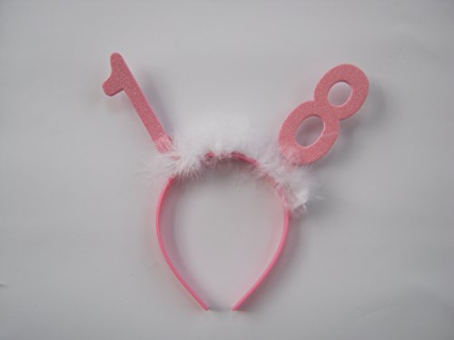 Girls Pink 18th Birthday Head Boppers Accessory