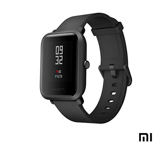 AMAZFIT Bip Xiaomi Smartwatch Monitor de Actividad Pulsómetro Ejercicio Fitness Reloj Deportivo (Versión Internacional) Negro/Black (Reacondicionado)