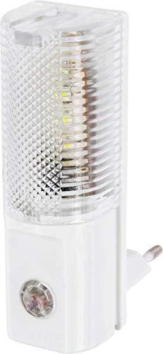 (LED Nachtlicht für Steckdose 230V - mit Dämmerungssensor - AUTO An Aus - nur 1W Verbrauch - kaltweiß (6000 K))