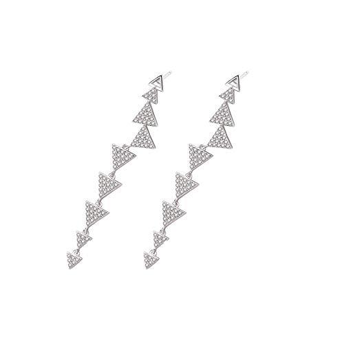 Ohrringe S925 Sterling Silber Geometrische Original Dreieck Zirkon Ohrringe Ohrringe