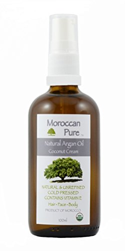 Moroccan Pure Argan Oil with Coconut Cold Pressed for Hair Skin Organic Virgin Extra Good For Face Nails 100ml