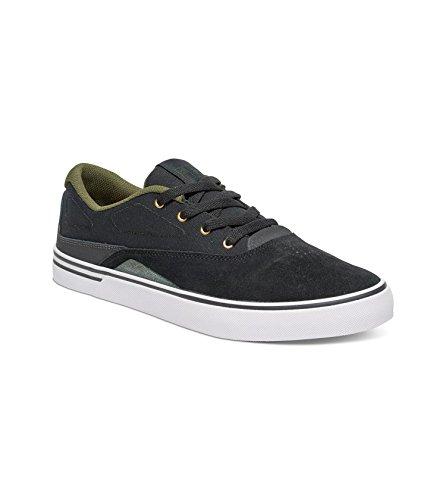 DC Mens Sultan Skate Shoes, Black/White, 11D BLACK/FOREST