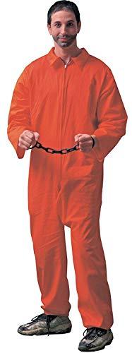 Forum Novelties Adult Jailbird Jumpsuit Halloween Costume New (Jailbirds Kostüm)