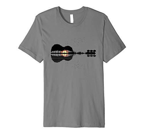 Gitarre Lake Shadow Bass Akustische Elektrische Gitarristen T-Shirt