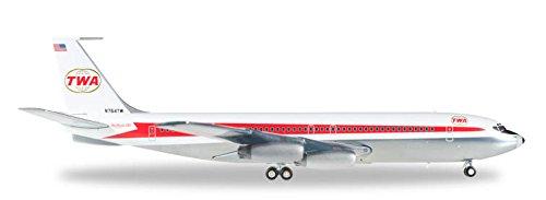 herpa-557740-twa-trans-world-airlines-boeing-707-320-fahrzeug-mehrfarbig