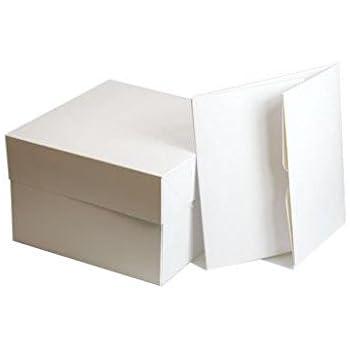 Box White 330X330X152MM Club Green 13 Cake SQ Card 33 x 33 x 10 cm