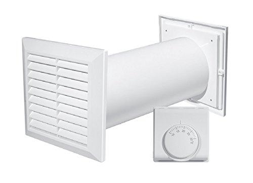 Ventilateur à turbine 4-en-1 pour distribution d'air chaud + thermostat + accessoires